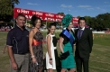 The winners from the fashions on the field with Driscoll, Mcillree and Dickinson representative Gary Driscoll (far left)