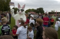 Out of eggs: Easter Bunny soon ran out of chocolate eggs at the Little Athletics Clinic on Family Day at Stawell
