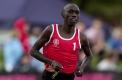 Nicholas Kipkoech from Kenya in a heat of the WH Earle 550 metre handicap