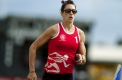 Lauren Boden in action during her heat of the women's 400 metre handicap