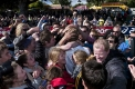 Wiltshire was mobbed by a mass of fans after his win at Stawell.