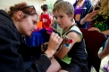 You gotta be tough to run at Stawell: Some wash-off tattoos for the kids at Central Park.